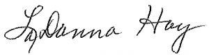 LaDonna Hoy signature
