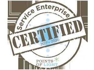 Service Enterprise certified Points of Light
