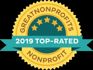 2019 GreatNonprofits top rated badge